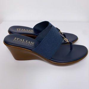 Italian Shoemakers Wedge Thong Sandal